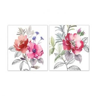 Painterly Poppies Canvas Wall art