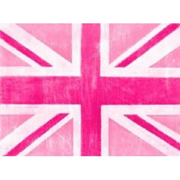 Union Pink British Flag Wall Art