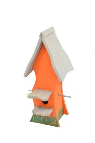 Bird Nesting Box Tweetie Pad - Orange & Grey