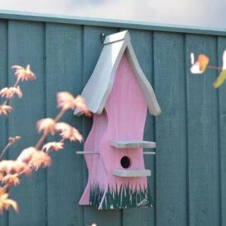 Bird Nesting Box Tweetie Pad - Pink & Grey
