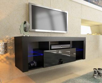 black modern tv unit